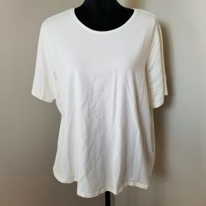 Eileen Fisher Organic Cotton White T Shirt 2X